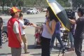 Some public comments criticised the television journalist for wearing sunglasses, saying it suggested a lack of respect for people she was interviewing. Photo: SCMP Pictures