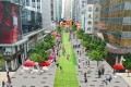 An artist's impression of how a pedestrianised Des Voeux Road in Central might look. Photo: SCMP Pictures