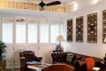 Apartment O in Causeway Bay boasts Chinese-style decorations.