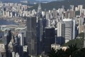 """Despite a slidedrop in ranking, the World Economic Forum said that Hong Kong's performance had been """"strong and consistent""""Skyline picture. Hong Kong skyline taken from the Peak. Office buildings stand in the central business district of Hong Kong. 25JUL16 SCMP/Photo: Robert Ng"""