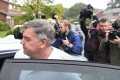 Former England national team manager Sam Allardyce leaves his home in Bolton. Photo: AFP