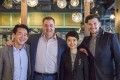 Harlan Goldstein (second from left) with Peter Cuong Franklin (left), ZS Hospitality's Elizabeth Chu Yuet-han and Christian Gerard Mongendre at the opening of the company's restaurant Home – Eat to Live in Central earlier this year.