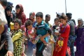 Iraqi families flee the city of Fallujah in May. Photo: AFP