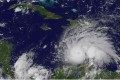 Hurricane Matthew in the Caribbean Sea, strengthening into a category 5 hurricane. Photo: EPA