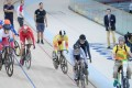 Hong Kong cyclist Sarah Lee Wai-sze (in grey) competes in the women's keirin at the Rio Olympics. Photo: HK SF&OF