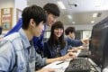 The Open University of Hong Kong student using an learning e-learning platform. Photo: SCMP Pictures