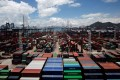 The Kwai Chung container terminal looks busy but is in fact facing a decline. Photo: Reuters