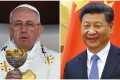 Pope Francis (left) said working groups were now discussing relations between the Vatican and China after they were severed by communism, and that he had just received a gift from China's President Xi Jinping (right). Photos: SCMP Pictures