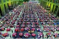 More than 15,000 people enjoyed the buffet for residents and their families in the former Yangji village near Guangzhou on Sunday. Photo: SCMP Pictures