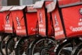 Logos of KFC, owned by Yum Brands Inc, adorn delivery bicycles in front of its restaurant in Beijing, China. Photo: Reuters
