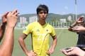 Man Pei-tak, Hong Kong Pegasus FC manager, talks to the press at Tsing Yi Sports Ground on Thursday. Photos: Dickson Lee