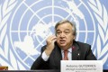 United Nations High Commissioner for Refugees Antonio Guterres speaks during a news conference at the European headquarters of the United Nations in Geneva, Switzerland. Photo: AP