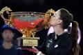 Agnieszka Radwanska after beating Johanna Konta. Photo: AFP