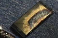 A burned Samsung Note 7 smartphone belonging to Brian Green. The replacement model of the fire-prone smartphone began smoking inside a Southwest Airlines plane on October 5. Photo: Reuters