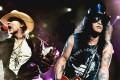 Axl Rose and Slash of Guns N' Roses earlier this year.