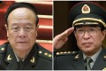The People's Liberation Army has expanded its campaign against graft to minimise any ongoing influence of disgraced leaders Guo Boxiong (left) and the late Xu Caihou. Photo: SCMP Pictures