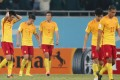 Players of China leave the pitch after losing the FIFA World Cup 2018 qualifying match against Uzbekistan in Tashkent, Uzbekistan, Oct. 11, 2016. China lost the match 0-2. (Xinhua/Cao Can)