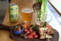 Singapore chilli softshell crab board and Evil Twin Sour Bikini at The Bottle Shop in Central. Photo: Nora Tam