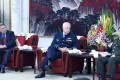 Vice-chairman of China's Central Military Commission Fan Changlong (right) meets with Mark Binskin, chief of the Australian Defence Force (centre), and Dennis Richardson, secretary of Australia's Department of Defence, who were visiting for the 19th China-Australia Defence Strategic Dialogue in Beijing on Wednesday. Photo: Xinhua