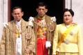 Thai King Bhumibol Adulyadej, Crown Prince Maha Vajiralongkorn and Queen Sirikit in 1999. Photo: AFP