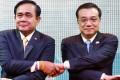 Thai Prime Minister Prayuth Chan-ocha (left) and Premier Li Keqiang at a Mekong summit meeting in Bangkok in December 2014. Photo: Reuters