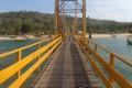"A file photo of the ""Yellow Bridge"" connecting Nusa Lembongan and Nusa Ceningan. Photo: Reuters"