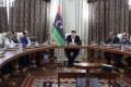 UN-backed government posted images on social media of its presidential council and ministers holding a meeting in the main offices of parliament in a different part of Tripoli. Photo: Libyan Presidential Council
