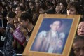 Thais sob as they wait to pay their last respects to the late King Bhumibol outside the Grand Palace in Bangkok. Photo: AP