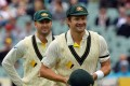 Shane Watson (right) and Michael Clarke did not always see eye-to-eye in their playing days. Photo: AFP