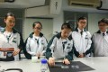 Students from Shun Tak Fraternal Association Yung Yau College (left to right) Leann Lo Li-yan, Kathrine Choi Yan-ching, Rex Ho Yik-lung, and Tommy Au Kwan-yiu, winners of the Space Science Experiment Design Competition for Hong Kong Secondary School Students. Photo: Jonathan Wong