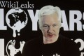 WikiLeaks founder Julian Assange participates via video link in an October 4 Berlin news conference marking the 10th anniversary of the group. Photo: AP