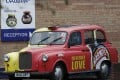 A branded taxi stands outside Unilever's Marmite factory in Burton upon Trent, Britain. Photo: Reuters