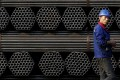 Youfa steel pipe plant in Tangshan in Hebei Province. Analysts are expecting strong results from the steel, coal and building materials sectors. Photo: Reuters