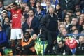Manchester United manager Jose Mourinho has called for his players to behave like men after their crushing defeat against Chelsea. Photo: EPA