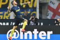 Inter Milan forward Mauro Icardi celebrates after scoring the first of his two goals against Torino at the San Siro Stadium. Photo: AFP
