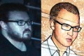 British banker Rurik Jutting in 2014 (left) and as sketched in court on Tuesday. Photo: Sam Tsang. Drawing: Henry Wong