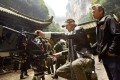 Director Michael Bay lines up a shot for camera operator John Skotchdopole in Wulong Karst National Park in China during filming of Transformers: Age of Extinction. Photo: Paramount Pictures
