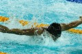 Hong Kong's Kenneth To King-him in the men's 50m butterfly of the World Cup at Victoria Park. Photo: Edward Wong