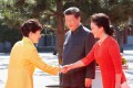 President Xi Jinping and first lady Peng Liyuan welcome South Korean President Park Geun-hye at Tiananmen Square in September last year. Park was in Beijing to attend a military parade to mark the 70th anniversary of the end of the second world war. Photo: EPA