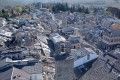 An aerial view of Amatrice village after the strong earthquake in central Italy. Photo: EPA