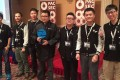 Members of the Keen Security Lab celebrate their victory at the phone hacking competition. Photo: SCMP Pictures