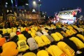 Malaysian Muslims pray during the protest rally by electoral concern group Bersih last year. The release of the emails comes ahead of another rally planned by the group this month. Photo: AFP