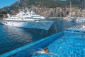 The infinity pool on board the Seven Seas Explorer, as it lays moored at Monaco. Pictures: Tim Pile