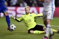 Leicester goalkeeper Kasper Schmeichel was the saviour for his team on a difficult night in Denmark. Photo: EPA