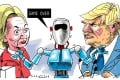"Given the hype surrounding technological innovation in the US, is it time for some ""artificial intelligence"" to inject some sanity into the US presidential election? Illustration: Craig Stephens"