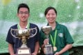Hong Kong's Jordi Lo and Dorothy Yu were men's and women's singles champions at last year's Classic. But they have their work cut out this year. Photos: SCMP Pictures