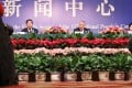 Minister of Civil Affairs Li Liguo speaks at a press conference during the National People's Congress meeting in Beijing in March 2011. On the left is Vice-Minister Dou Yupei, and right, Vice-Minister Jiang Li. Photo: SCMP Pictures