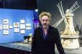 "Tim Burton at his exhibition ""The World of Tim Burton"" in Hong Kong."