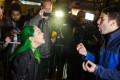 A protester argues with a supporter of Donald Trump outside Trump Tower in New York City after midnight on election day. Riding a wave of popular resentment, Trump stunned America and the world to defeat Hillary Clinton in the race to become the 45th president of the United States. Photo: AFP