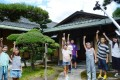 Children in Tadaoka, Osaka Prefecture, making a video to introduce Masaki Art Museum. Photo: Kyodo